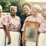 Geechee Gullah Ring Shouters with U.S. Poet Laureate Tracy K. Smith in Darien GA.